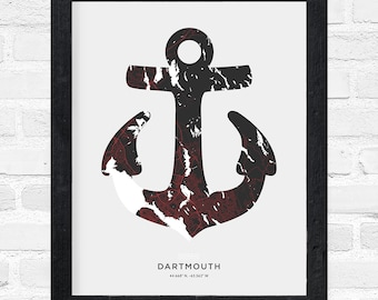Dartmouth Anchor Print
