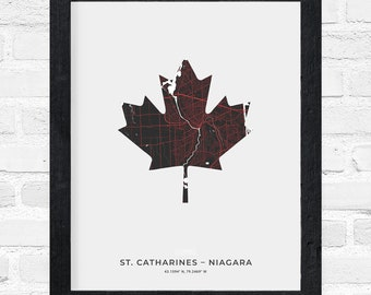 St. Catharines-Niagara Maple Leaf Print