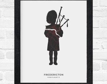 Fredericton Piper Print