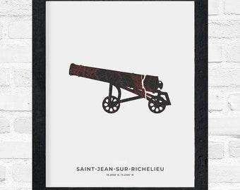 Saint-Jean-sur-Richelieu Cannon Print