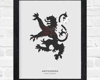 Antigonish Lion Print