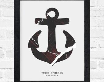 Trois-Rivières Anchor Print