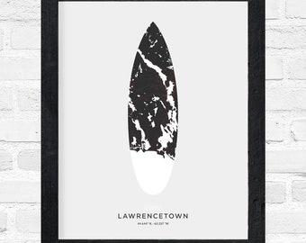 Lawrencetown Surfboard Print
