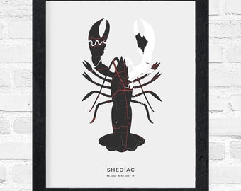 Shediac Lobster Print