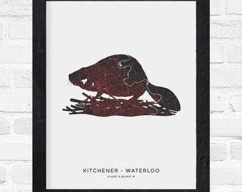 Kitchener-Waterloo Beaver Print