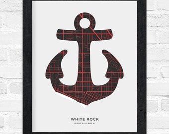 White Rock Anchor Print