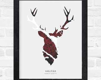 Halifax Stag Print