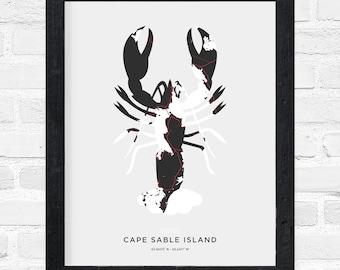 Cape Island Lobster Print