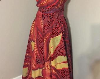 African Print Ankara formal dress