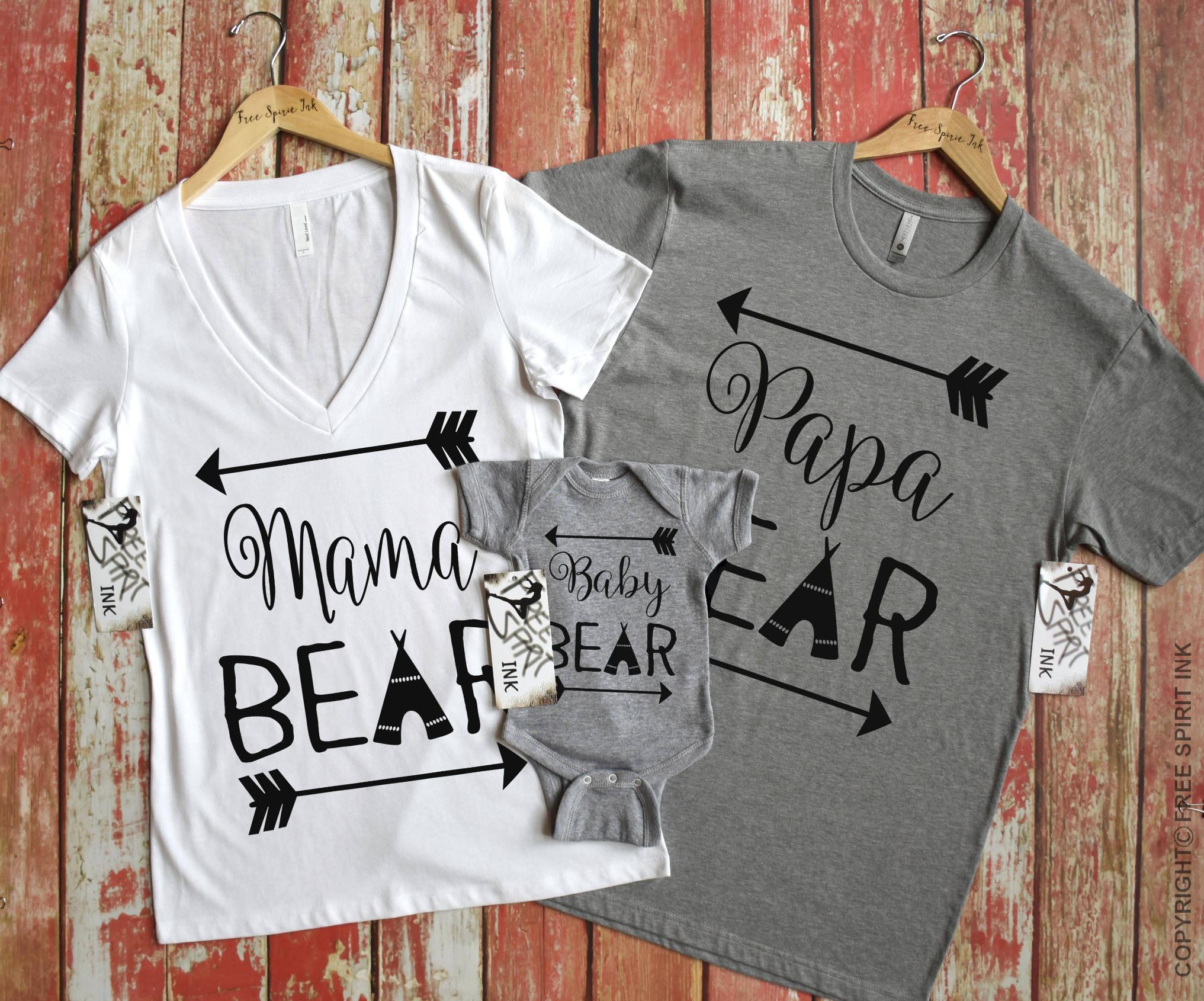 2c3bf84f Bear Shirts Bear Family Shirts Mama Bear Shirt Papa Bear | Etsy