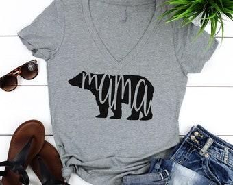Mama Bear Shirt. Mothers Day Gift. Mama Bear V-Neck Shirt. Gift For Mom. Mama Bear Tee. Gift For Wife. Baby Shower Gift