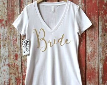 Bride Shirt. Bridal Shower Gift. Bride T-Shirt. Bride Tee. Bride Tank. Bride To Be. Mrs Shirt. Mrs Tee. Gift For Bride. Bachelorette Party