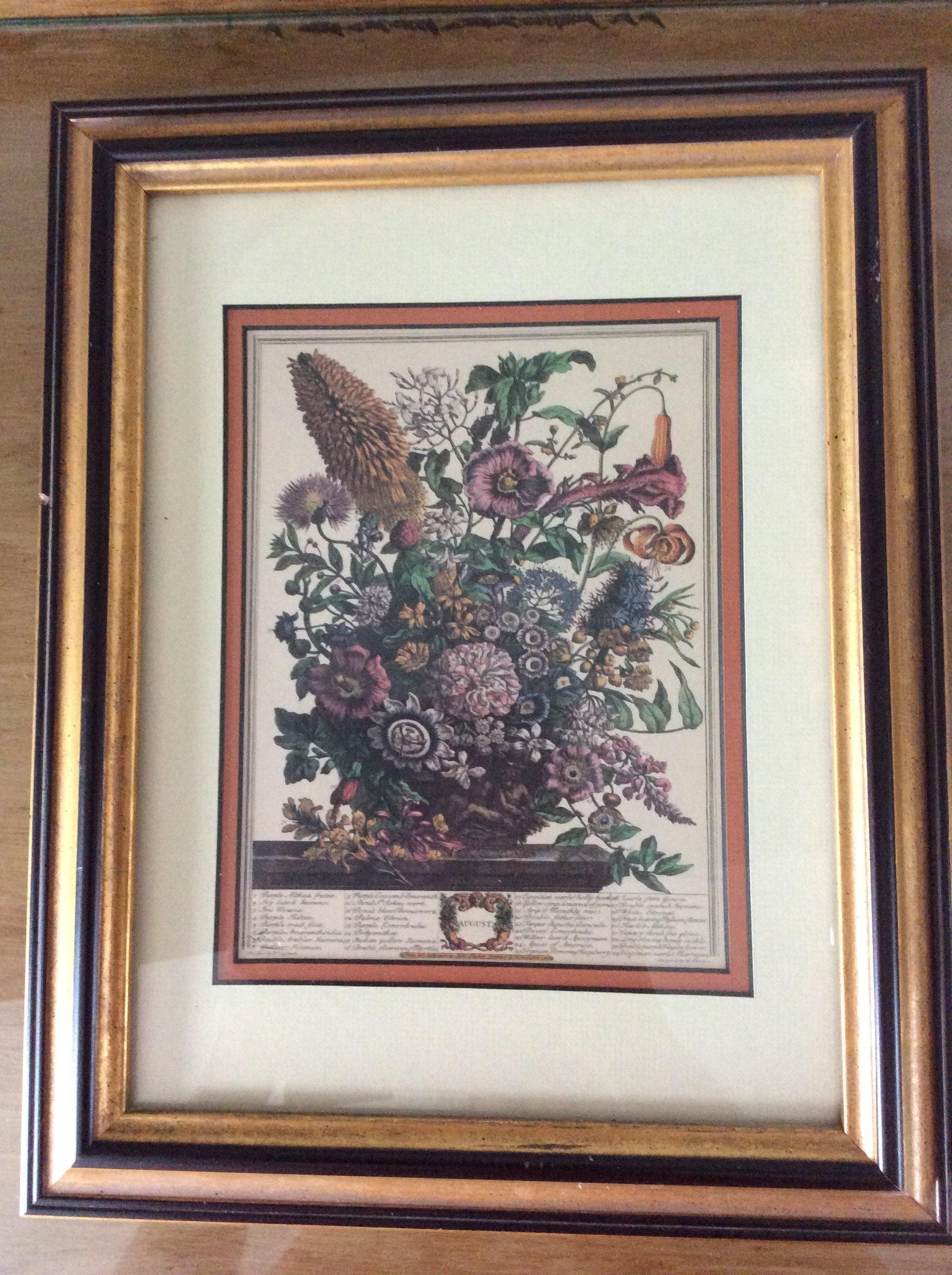 Blumen-Print gerahmt \'August\' von H. Fletcher   Etsy