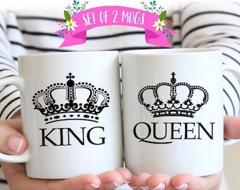 Couples Coffee Mug Set, Wedding Gift, Couples Mug Set