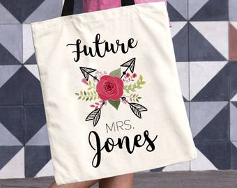 Wedding Bag for the Bride to Be, Personalized Tote, Bride Gift, Wedding Bag