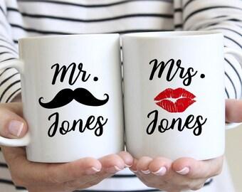 Personalized Mug Set, Mr and Mrs Mugs, Mr. and Mrs. Coffee Mugs, Mr and Mrs Coffee Mugs, Mr Mrs Coffee Mugs, Couples Mug Set