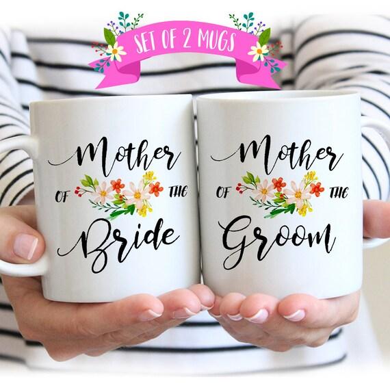 Bruiloft Cadeau Ideeën Voor Ouders Moeder Van De Bruid En Bruidegom Geschenken Moeder Van De Bruid Moeder Van De Bruidegom Mok Ingesteld Bruiloft