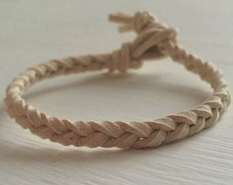 Handmade Bracelet - Delicate Bracelet - Vegan Suede Bracelet - Bohemian Bracelet - Minimalist Bracelet