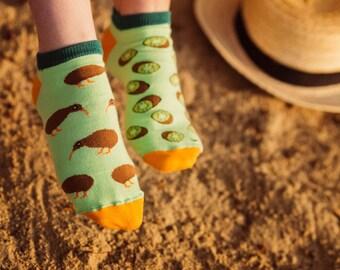 Kiwi low socks | men socks | colorful socks | cool socks | mismatched socks | womens socks | crazy socks | unique socks | patterned socks