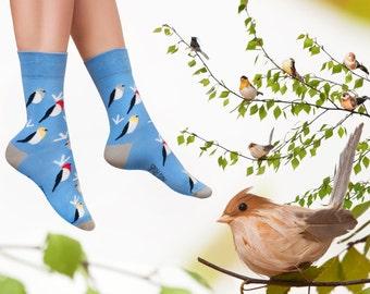 Birds socks | men socks | colorful socks | cool socks | womens socks | crazy socks | unique socks | patterned socks | funky casual socks