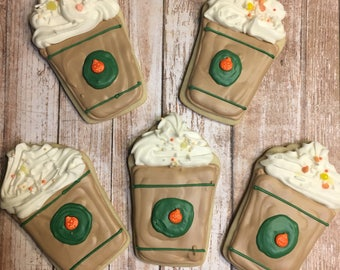 Latte Themed Cookies