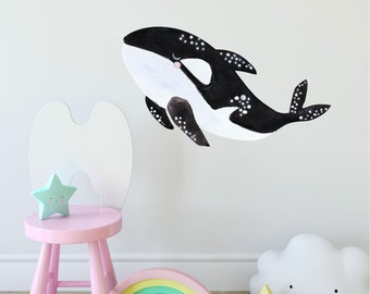 R00195 Wall Stickers Wall Decals Deep Sea Fish Octopus Turtle Orca