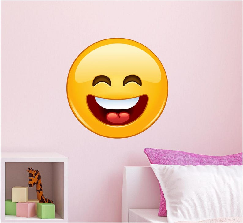 photograph regarding Large Printable Emojis named Emoji Wall Decal, Emoji Stickers, Printable Emojis, Laughing Experience, Apple, apple iphone Emoticon, Nursery Decor 12\