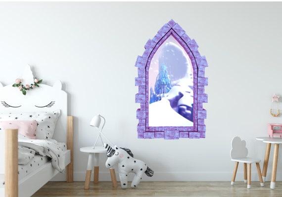 Tangled Music 3D Window View Decal WALL STICKER Home Decor Art Mural Disney Kids