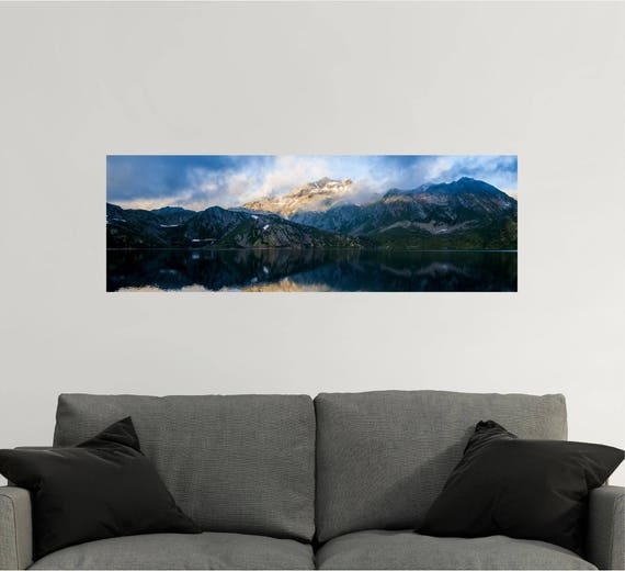 panoramic wall decal panoramic wall art mountain wall | etsy