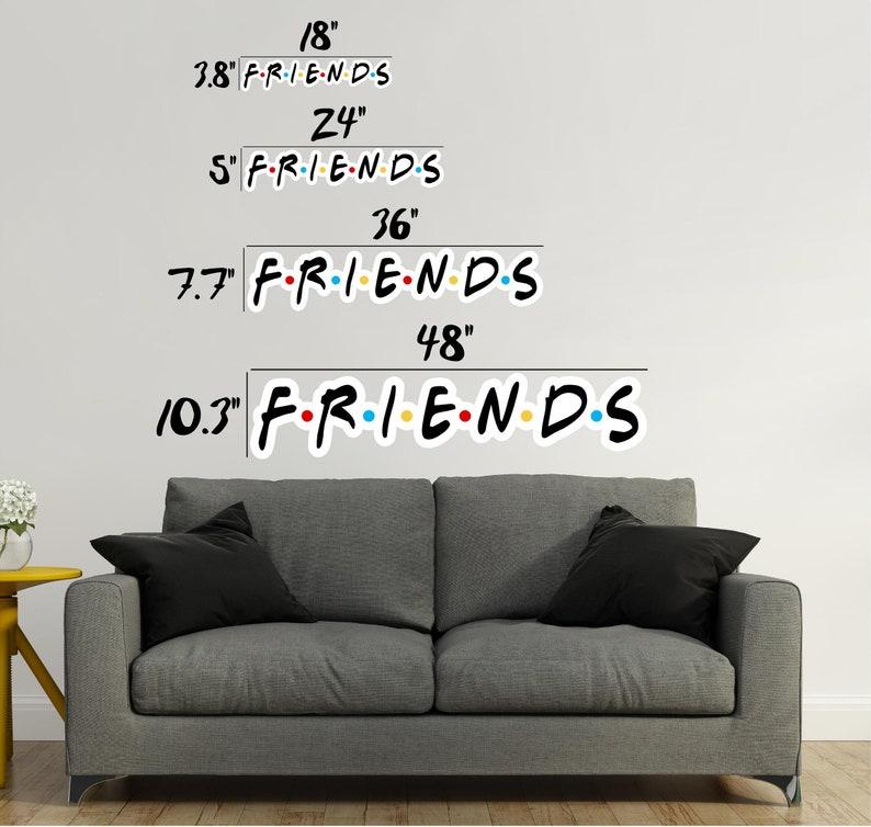 Friends Font 2 Wall Decal Wall Sticker Logo Fabric Vinyl ...