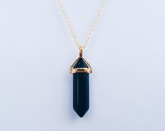 3ac1f9aee1587 Black obsidian chain | Etsy