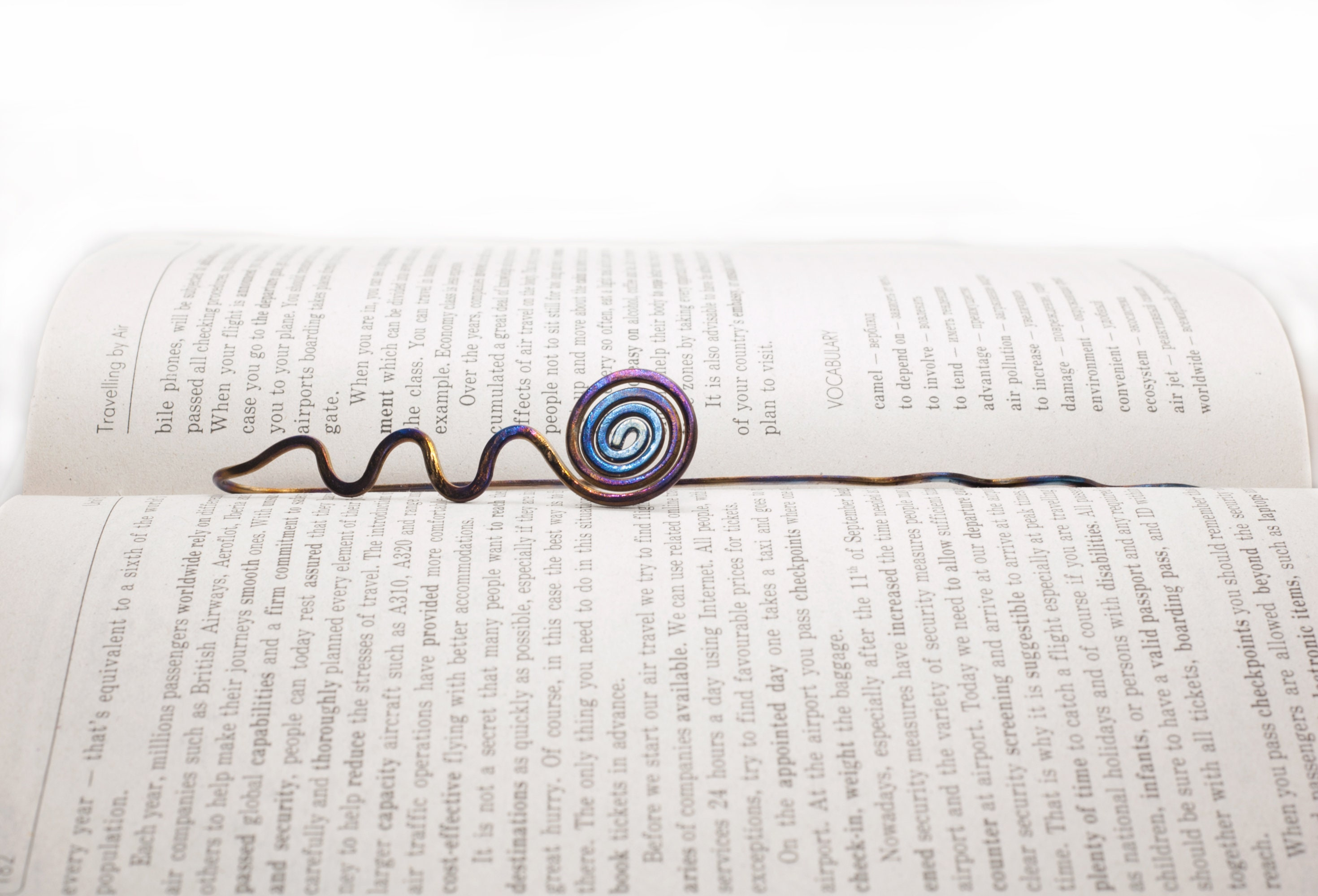Metal Bookmark - Unique Bookmarks - Spiral Bookmark - Bookworm Gifts -  Literary Gifts - Bookish Gifts - Celtic Bookmarks