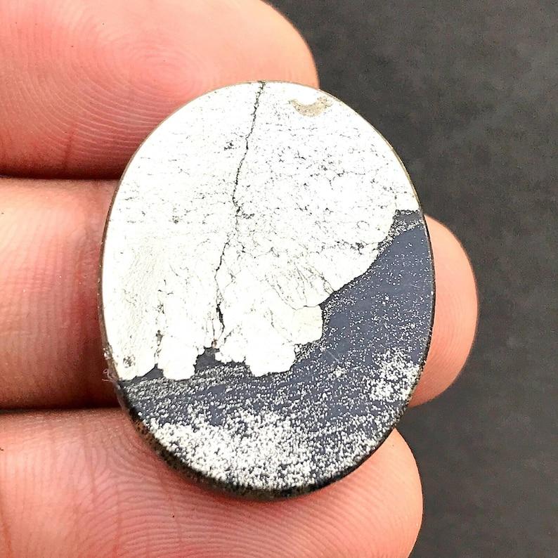Apache Pyrite Cabochon...Oval Cabochon...28x21x5 mm...40 Cts...#G6703