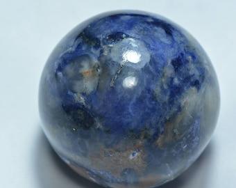 41mm Sodalite Sphere...Sodalite Cabochon...Sodalite Sphere Cabochon...41 mm sphere...466 Cts...#637