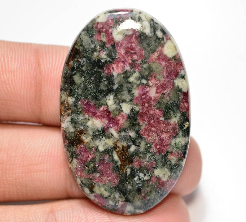 Eudialyte Cabochon....Oval  Cabochon...41x26x5 mm...46 Cts...#G7805