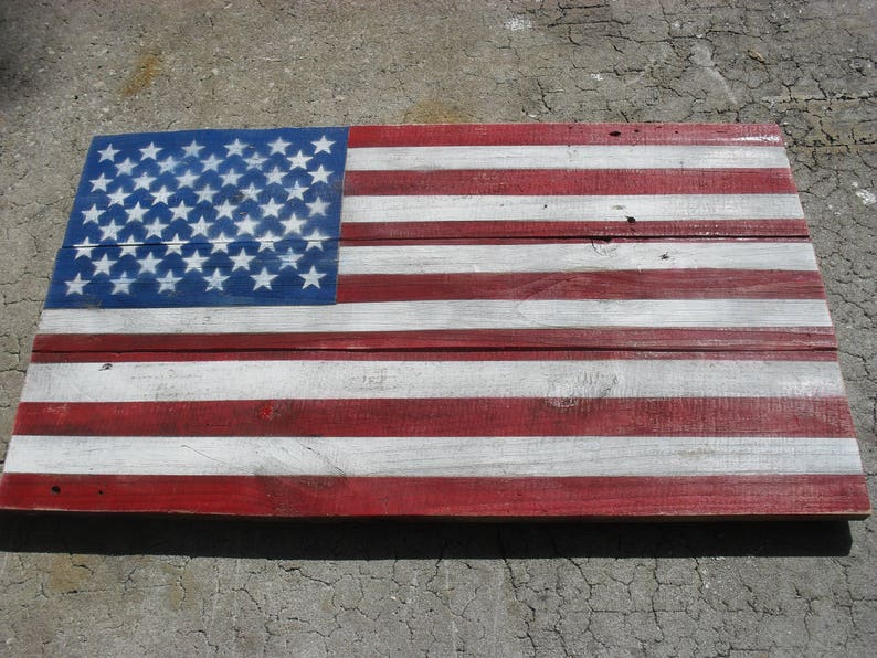 4b9ef533670 American Flag Reclaimed Wood Wall Art Americana Patriotic