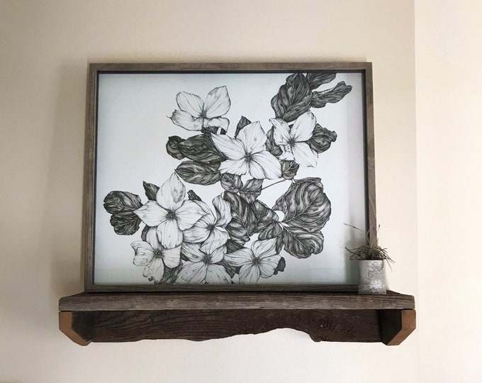 Blooming in May - Dogwood Blossoms - Original Ink Illustration