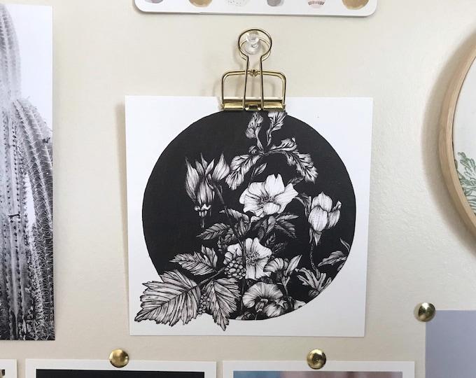 Pacific Northwest Flora  - Square Art Print