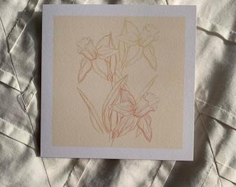 Daffodil Card - Blank Card