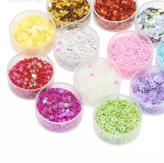 6 barattolini con diversi tipi di glitter iridiscenti etsy - Diversi tipi di figa ...