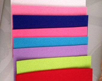 8 coloured felt sheet A4