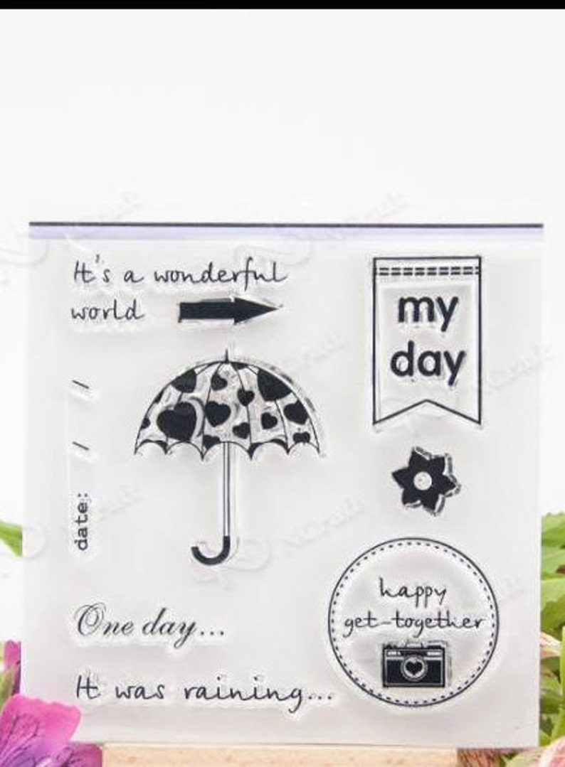 Timbro in silicone clear silicone stamp banner transparent clear per scrapbooking