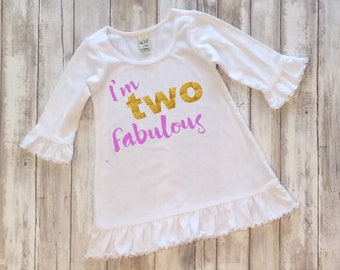 I'm Two Fabulous Birthday Dress, Two Year Old Birthday Dress, I'm Two, Birthday Party Dress, Diva Birthday Party, #twofabulous, #toofabulous