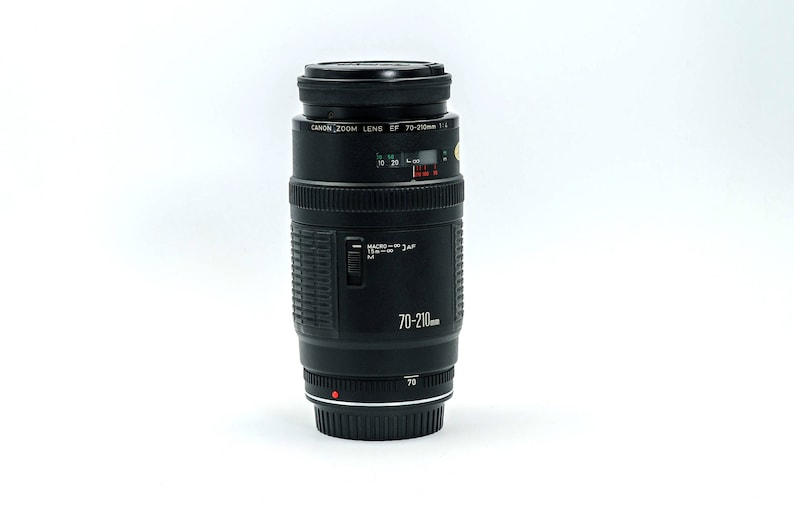 CANON EF 70-210mm MACRO Auto focus Full Frame Telephoto Lens with Constant  f4 Aperture  In Genuine Canon Hard Case, with Both Caps
