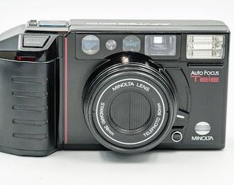 Minolta AF-Tele 35 mm Rangefinder Camera with Standard 38mm & Telephoto 60mm Minolta Lens