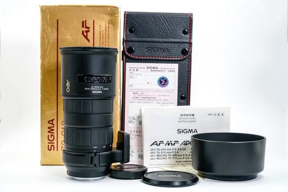 goditi la spedizione gratuita Los Angeles prezzo ufficiale Sigma 70-210mm F/2.8 APO Autofocus Lens For Minolta Alpha Mount in MINT  Condition, with All Documents, Hood, Leather Case and Original Box
