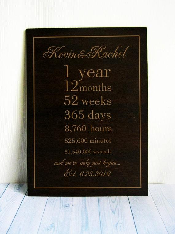 Verjaardag Cadeau 1 Jaar Samen Gepersonaliseerde Wedding Gift 1e Bruiloft Verjaardag Geschenk Voor Man Vrouw
