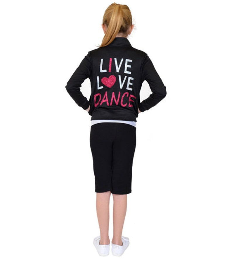 Girl's Live Love Dance Warmup Jacket image 0