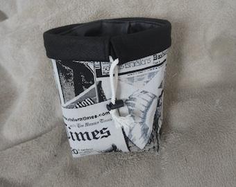 Basket/purse newsprint effect