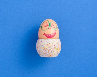 Sprinkles Concrete Egg Cup